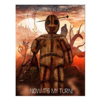 """Voodoo-ing 1 """"Head Games"""" FUNNY Postcard"""