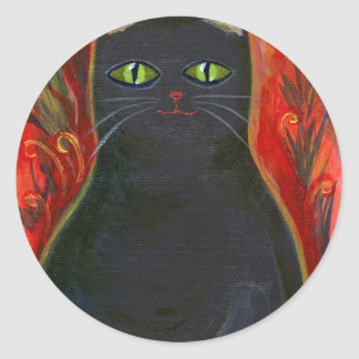 Voodoo Kitty Classic Round Sticker