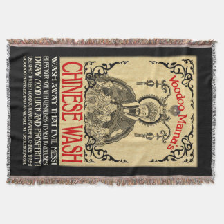 Voodoo Mama's Chinese Wash Throw Blanket