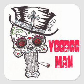 voodoo Man Square Sticker
