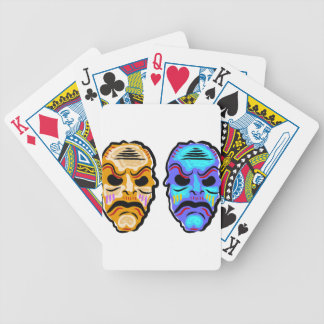 Voodoo Mask Sketch Bicycle Playing Cards