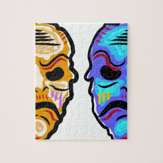 Voodoo Mask Sketch Jigsaw Puzzle
