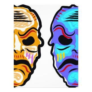 Voodoo Mask Sketch Letterhead