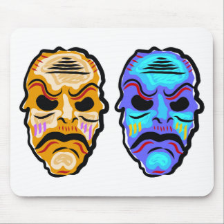 Voodoo Mask Sketch Mouse Pad