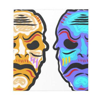 Voodoo Mask Sketch Notepad