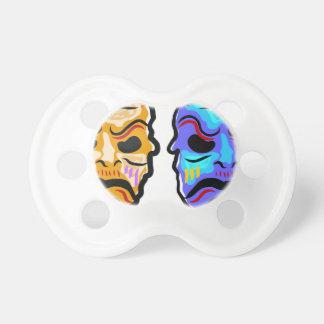 Voodoo Mask Sketch Pacifier