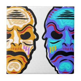 Voodoo Mask Sketch Tile