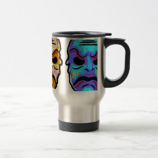 Voodoo Mask Sketch Travel Mug