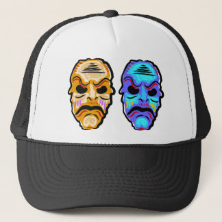 Voodoo Mask Sketch Trucker Hat