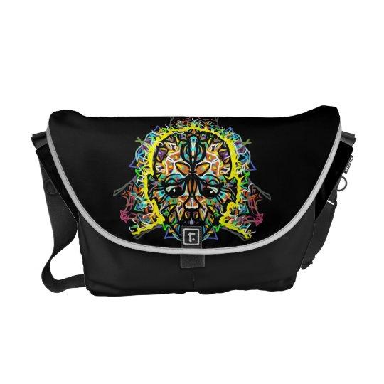 """Voodoo"" New Black Custom Rickshaw Messenger Bag. Messenger Bag"