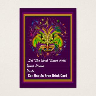 Voodoo Queen Mardi Gras Throw Card See notes