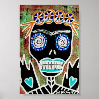 Voodoo Queen Sugar Skull Poster
