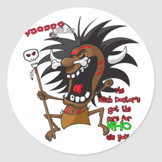 Voodoo RULES with Tagline Round Sticker