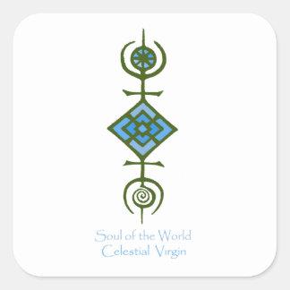 VooDou Soul of the World - Celestial Virgin Square Sticker