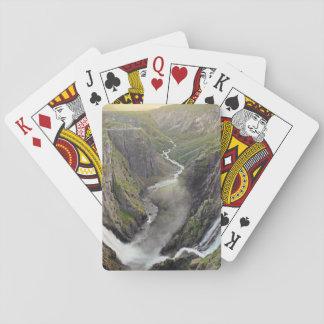 Voringsfossen waterfall in Norway playing cards