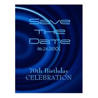 Vortex 70th Birthday Save the Date Postcard