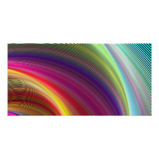 Vortex of colors personalized photo card