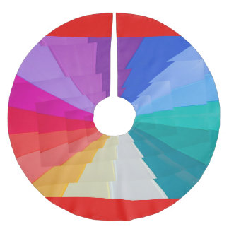 vortex of colours on Tree Skirt, Brushed Polyester Tree Skirt