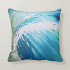Vortex Wave Coastal Beach Abstract Pillow by Juul