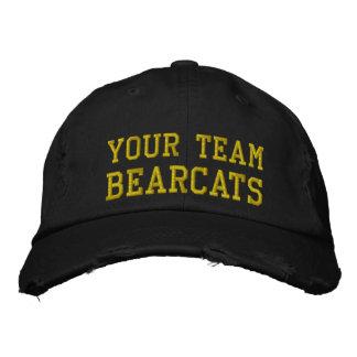 Vos Bearcats de nom d'équipe ont brodé le casquett Casquette De Baseball