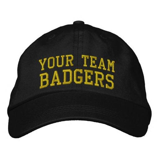 Vos blaireaux de nom d'équipe ont brodé le casquet casquette brodée