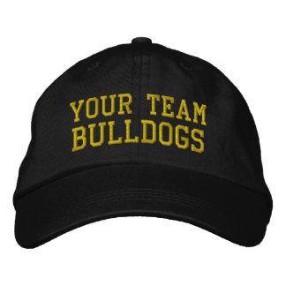 Vos bouledogues de nom d'équipe ont brodé le casqu chapeau brodé