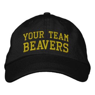 Vos castors de nom d'équipe ont brodé le casquette casquette brodée