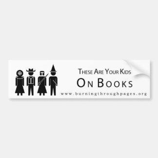 Vos enfants sur des livres - adhésif pour pare-cho autocollant de voiture