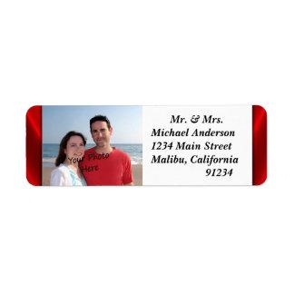 Vos étiquettes de adresse de retour de photo étiquette d'adresse retour