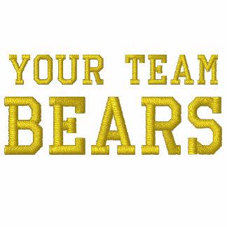 Vos ours de nom d équipe ont brodé le sweat - shir sweatshirt avec capuche brodé