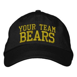 Vos ours de nom d'équipe ont brodé le casquette de chapeau brodé