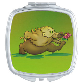 VOSKAR  CUTE CARTOON compact mirror SQUARE