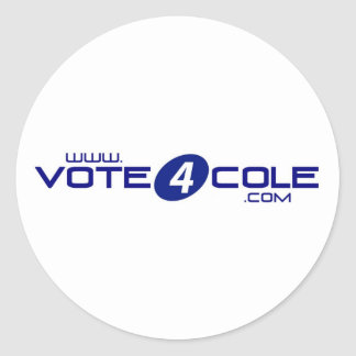 Vote4Cole Stickers