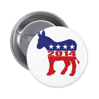 Vote 2014 Democratic Party Pinback Button