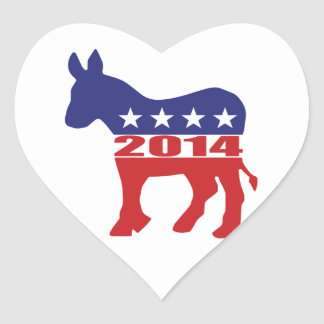 Vote 2014 Democratic Party Stickers