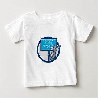 Vote 2016 Democrat Donkey Mascot Cartoon Baby T-Shirt