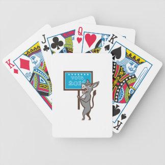 Vote 2016 Democrat Donkey Mascot Cartoon Bicycle Playing Cards