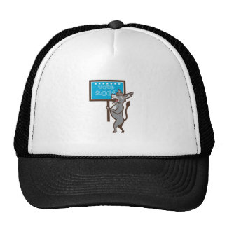 Vote 2016 Democrat Donkey Mascot Cartoon Trucker Hat