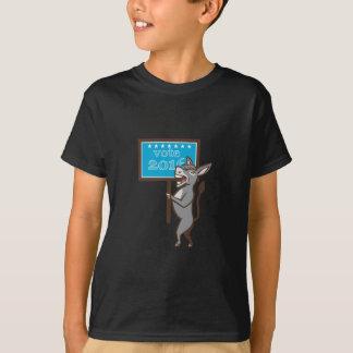 Vote 2016 Democrat Donkey Mascot Cartoon Tshirt