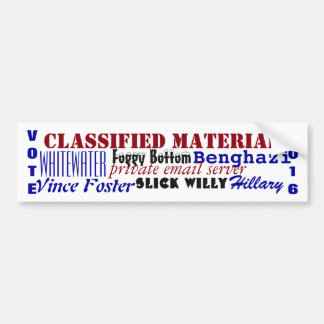 Vote 2016 Scandalous Scandals Hillary election Bumper Sticker