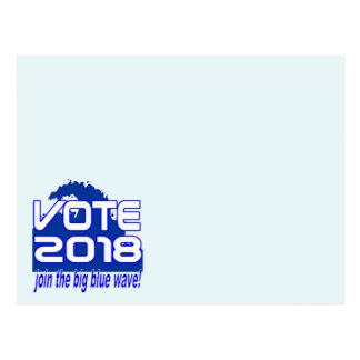 VOTE 2018 Blue Wave postcard