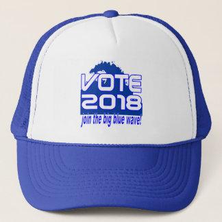 VOTE 2018 Blue Wave trucker hat