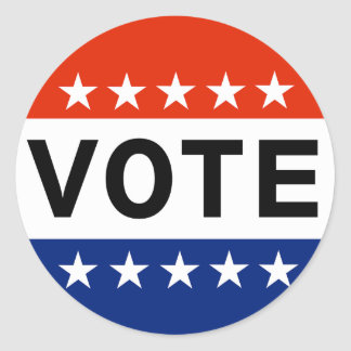 Vote 2018 Midterm Elections Classic Round Sticker