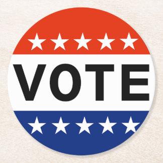 Vote 2018 Midterm Elections Round Paper Coaster