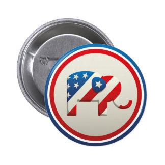 Vote 2 Inch Round Button