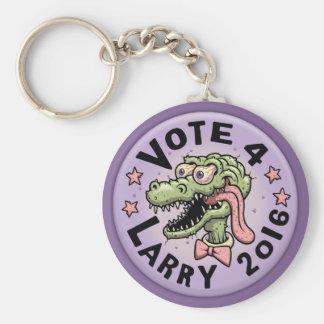 Vote 4 Larry Basic Round Button Keychain