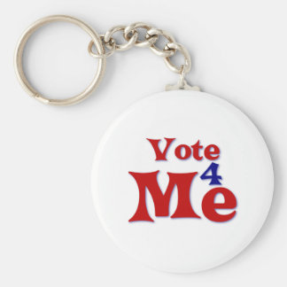 Vote 4 Me Basic Round Button Keychain
