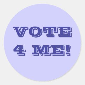 VOTE 4 ME! CLASSIC ROUND STICKER