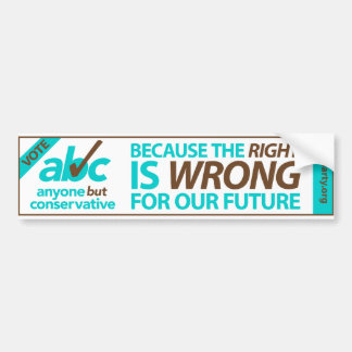 Vote ABC bumper sticker