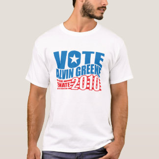 Vote Alvin Greene Election t-shirt